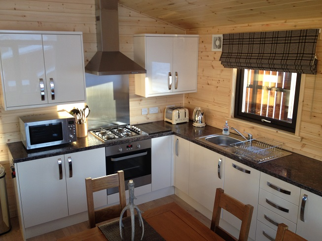 The Sòghail lodge kitchen