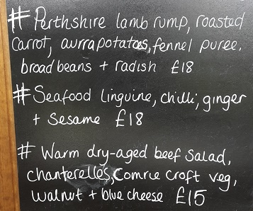 Bank Holiday Monday - specials for lunch at Mhor 84