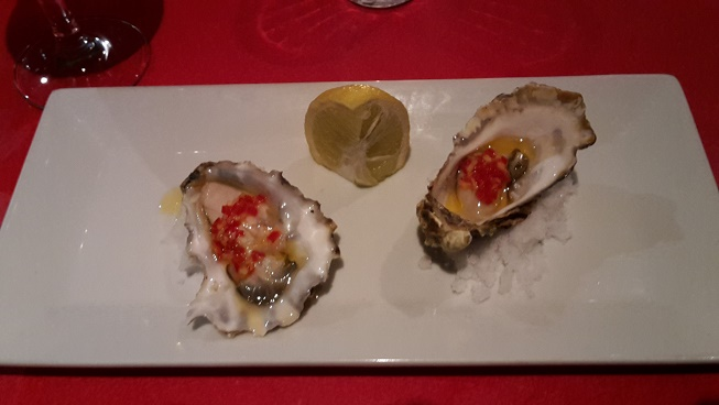 Oysters laced with chilli and ginger from Mhor 84