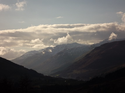Take the high road around Balquhidder Mhor - spectacular views today