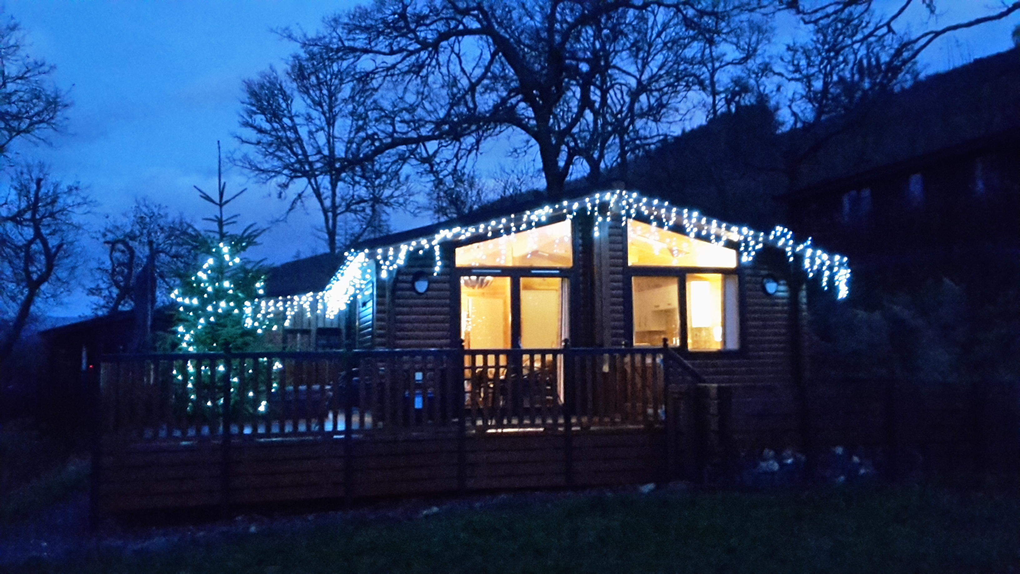 Balquhidder Mhor Lodges ready for the Christmas holidays!