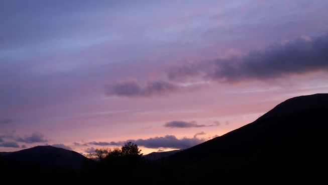 Red sky at night! A beautiful sunset this evening at Balquhidder Mhor Lodge