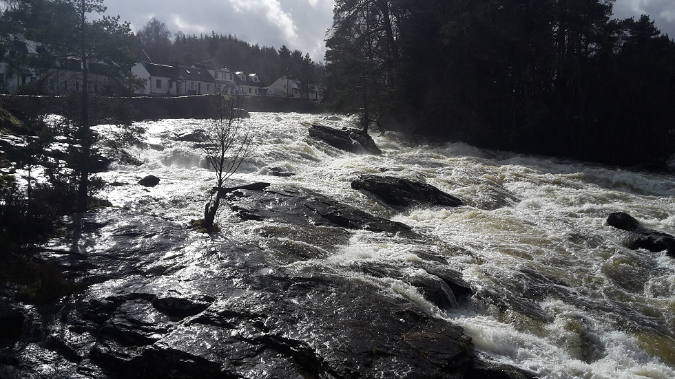 The Falls Of Dochart - In Full Spate Today!